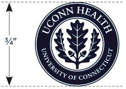 UConn Health seal minimum size