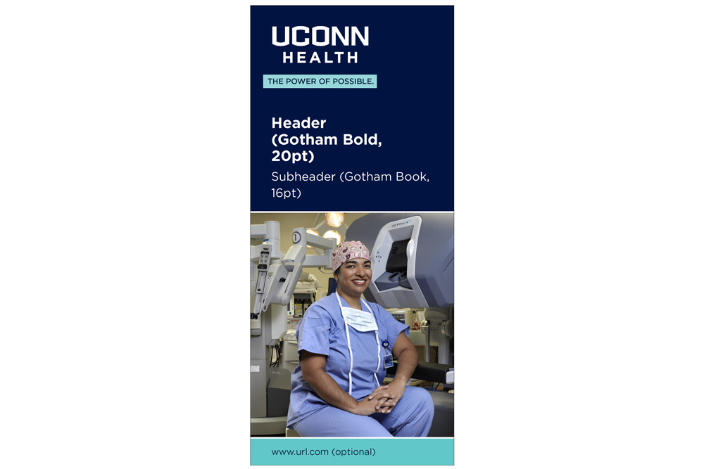 UConn Health slim jim brochure example