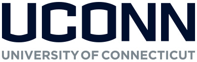UConn blue and grey logo stacked