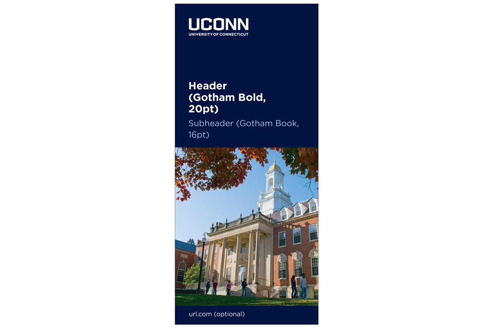 UConn slim jim brochure example