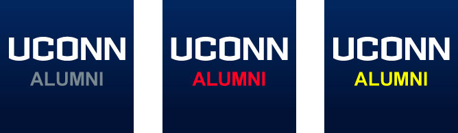 UConn logo examples for social avatars