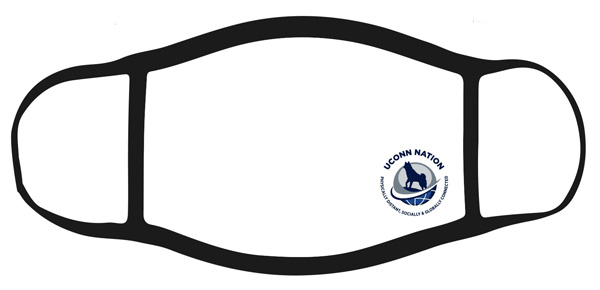 face mask covering with uconn logo