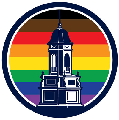 UConn Inclusive logo with Wilbur Cross coupla