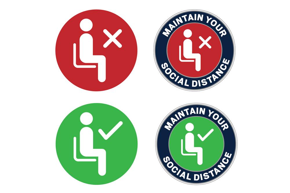 No sit/ Sit icons