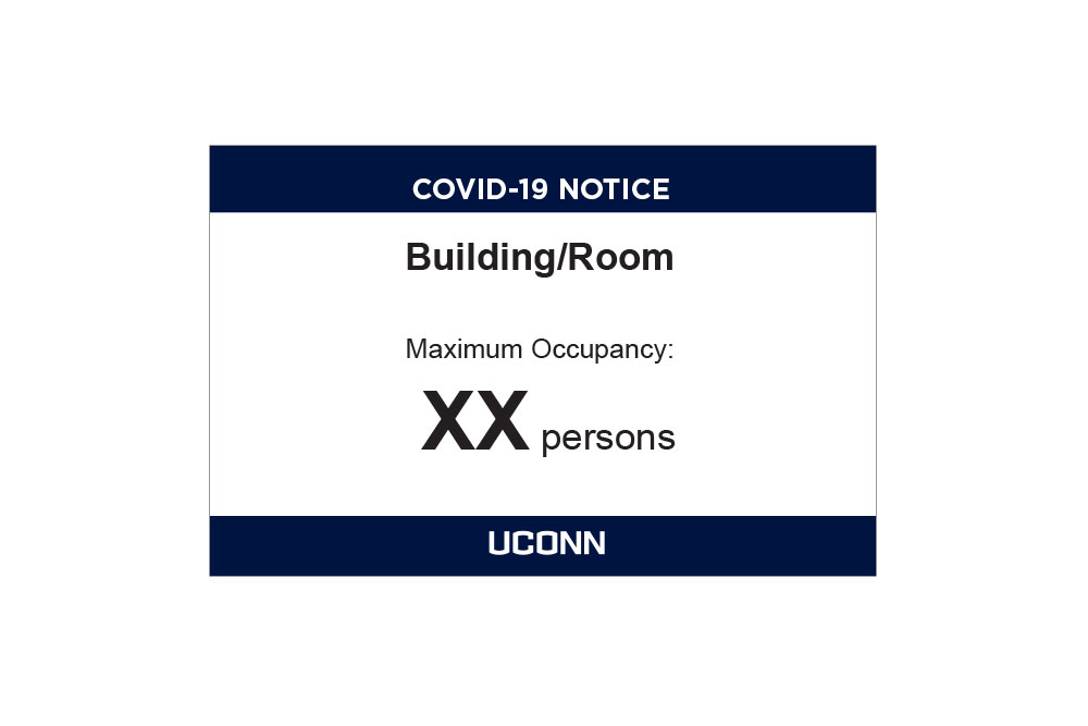 Occupancy limit template sign
